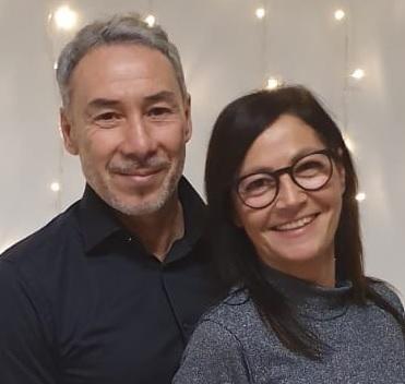 Giuliano Leuzzi e la moglie Daniela